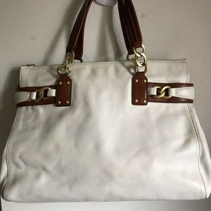 Juicy Couture Large White Leather Bag